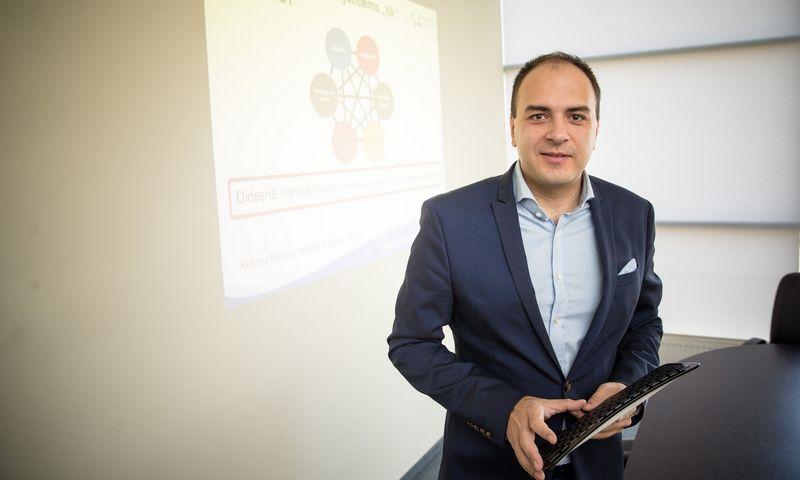 """Dr. Lukas Macijauskas, UAB """"Synergy Finance"""" fondų valdytojas.  Vladimiro Ivanovo (VŽ) nuotr."""