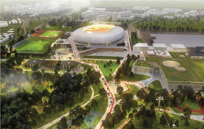 """""""Vilniau nacionalinio stadiono"""" vizualizacija."""