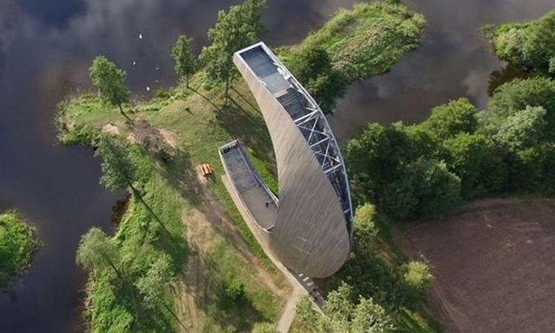 Kirkilų apžvalgos bokštas Biržų rajone. AINA nuotr.