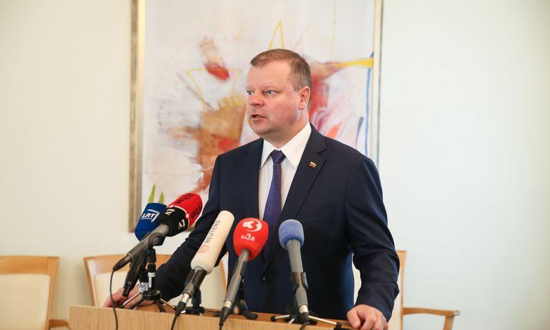 Premjeras Saulius Skvernelis prieš pusantros savaitės pareiškė apie savo planus siekti pergalės artėjančiuose prezidento rinkimuose. Vladimiro Ivanovo (VŽ) nuotr.