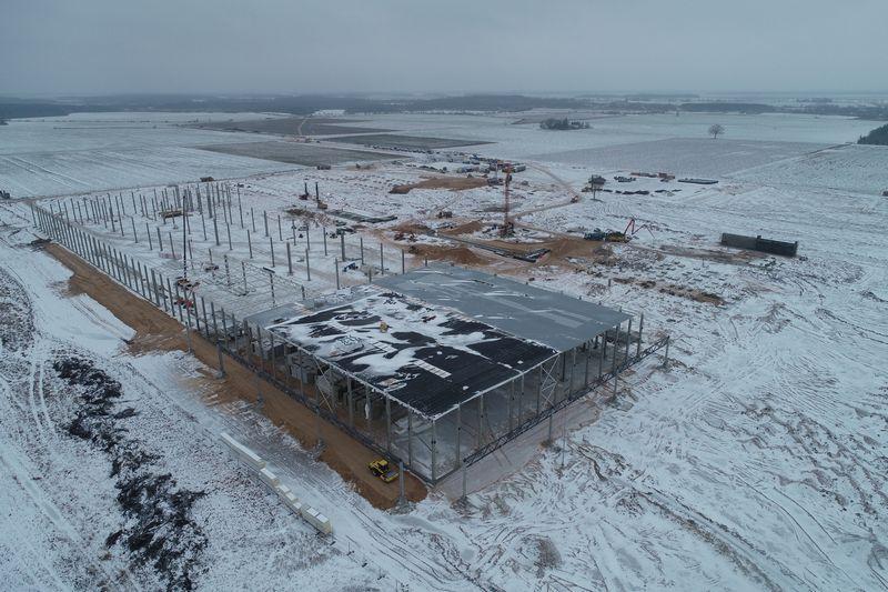 Plokščių fabriko statybos. VMG nuotr.