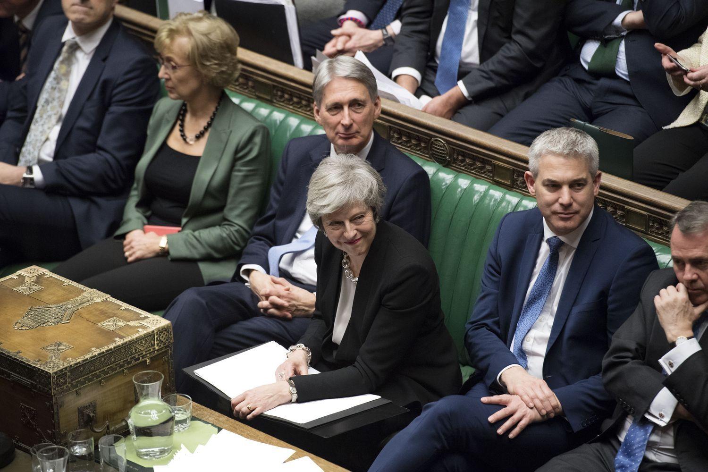 """Dauguma JK parlamentarų palaikė """"Brexit""""sutarties persiderėjimo idėją"""