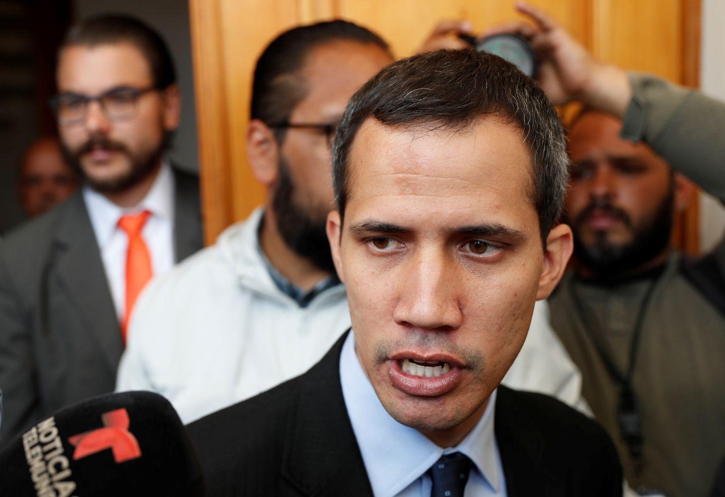 EP pripažino J. Guaido teisėtu Venesuelos vadovu