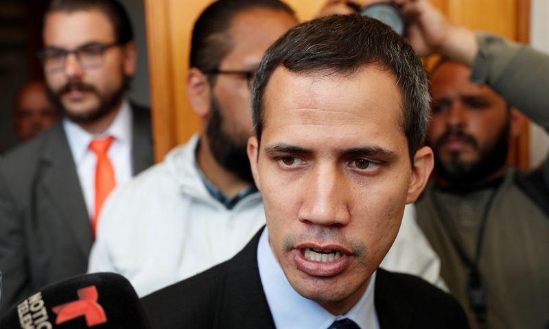 "Juanas Guaido. Carlos Garcia Rawlins (""Reuters"" / ""Scanpix"") nuotr."