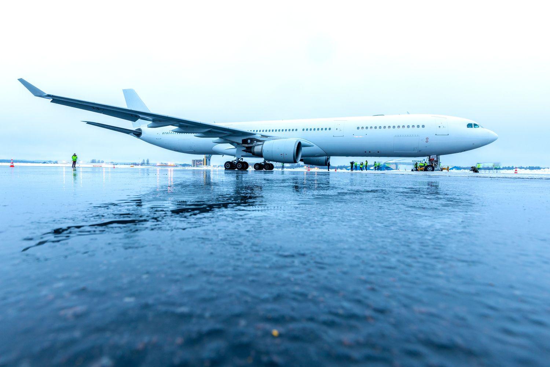 "Į Kaunąatskraidintas ""GetJet"" bendrovėsįsigytas ""Airbus A330"""