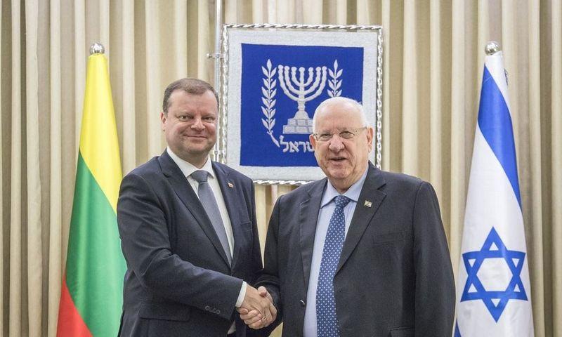 Premjeras S. Skvernelis susitiko su Izraelio prezidentu Reuvenu Rivlinu. Lrv.lt nuotr.