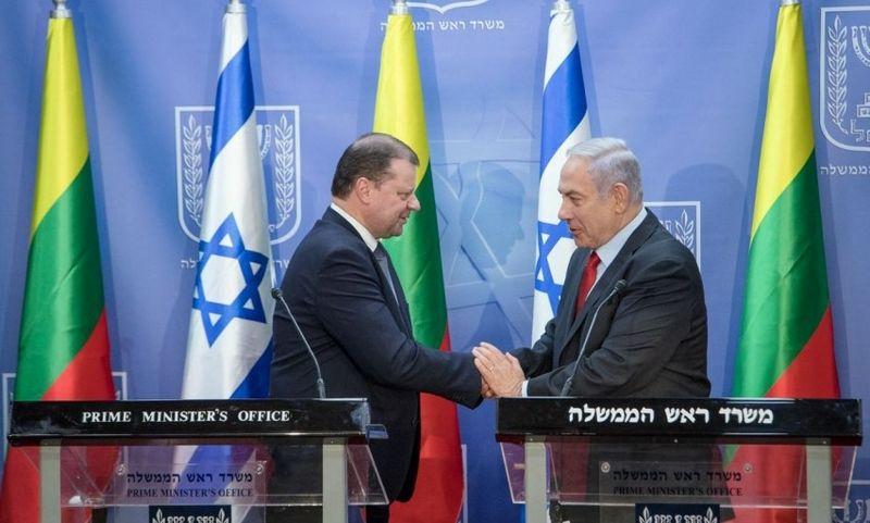 Saulius Skvernelis, Benjaminas Netanyahu. Lrv.lt nuotr.