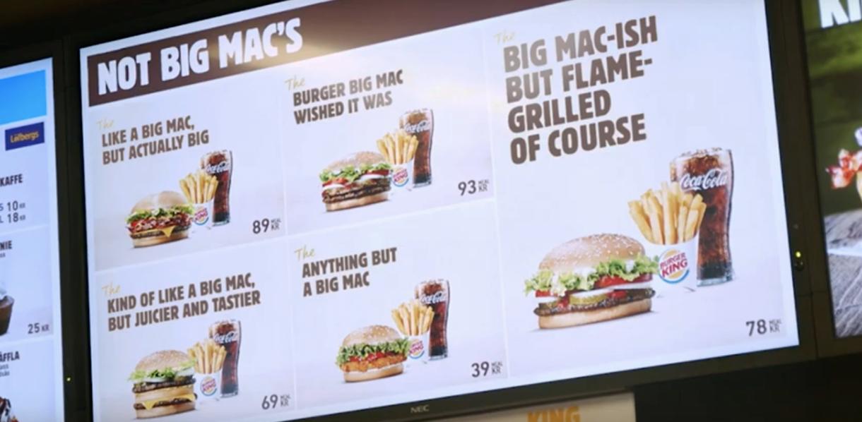 """""""Burger King"""" įgėlė """"McDonald's"""" dėl """"Big Mac"""""""