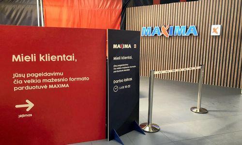 """Vilniaus """"Akropolyje"""" laikinai veikia mažesnė """"Maxima"""""""