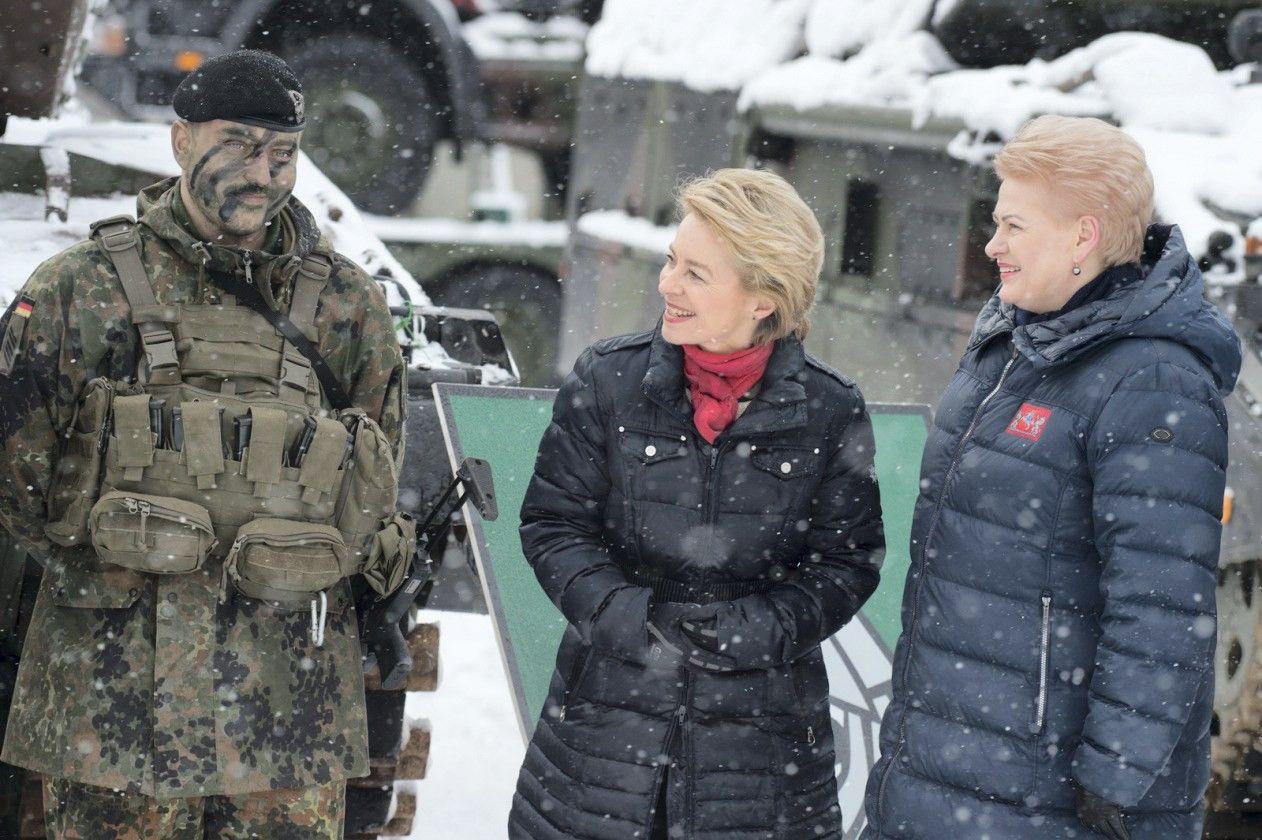 NATO kovinė grupė Lietuvoje mini antrąsias metines
