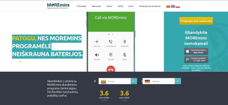 """Startuolis """"MOREmins"""" pritraukė 750.000 Eur investiciją"""
