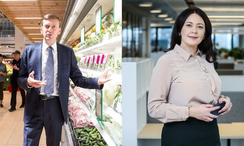 """Dainius Dundulis, """"Norfos"""" įmonių grupės pagrindinis akcininkas, ir Kristina Meidė, """"Maxima LT"""" direktorė. VŽ koliažas."""