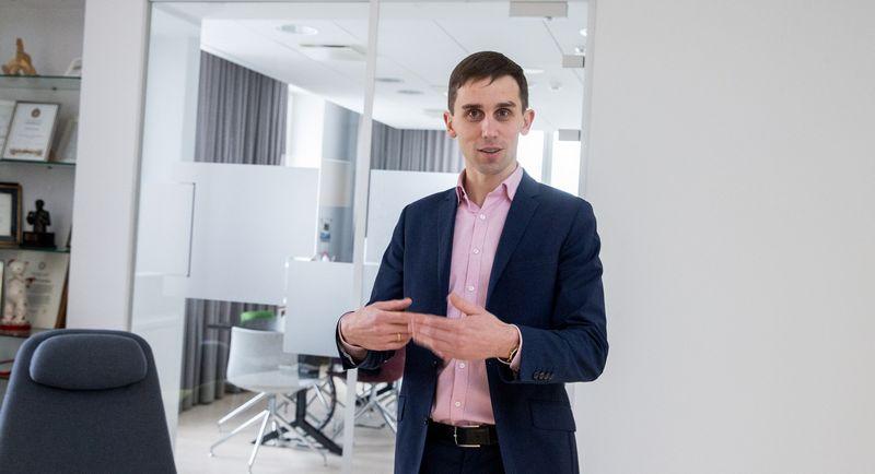 Tadas Povilauskas, SEB banko ekonomistas.  Vladimiro Ivanovo (VŽ) nuotr.