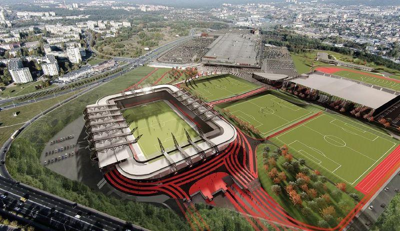 Nacionalinio stadiono vizualizacija.