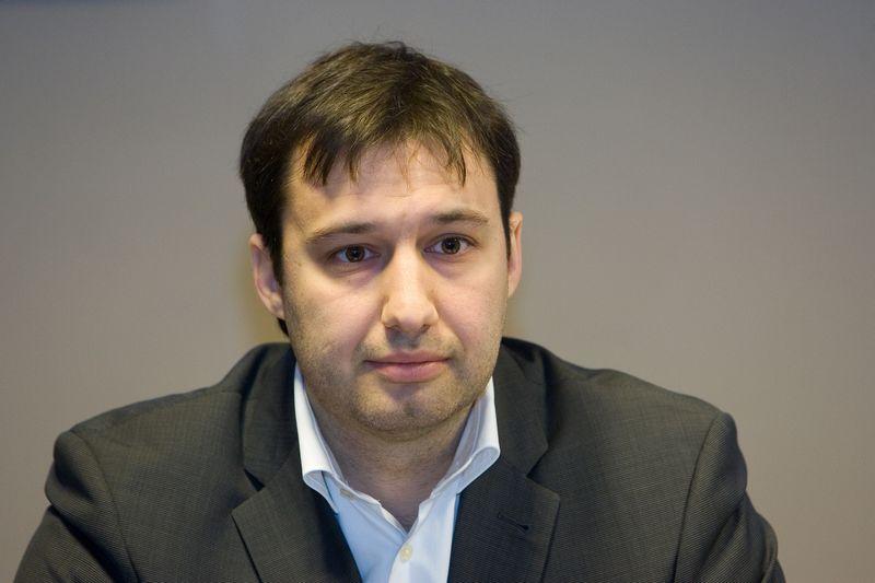 """INVL Asset Management"" verslo plėtros vadovas ir ""Mundus"" valdybos narys Andrej Cyba. Juditos Grigelytės (VŽ) nuotr."