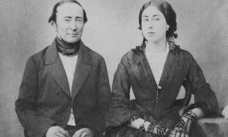 "Ignotas Domeika su žmona EnriquetaSotomayor. ""Wikipedia Commons"" nuotr."