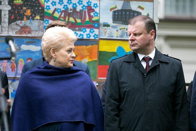 Dalia Grybauskaitė, Saulius Skvernelis. Žygimanto Gedvilos (15min.lt)  nuotr.