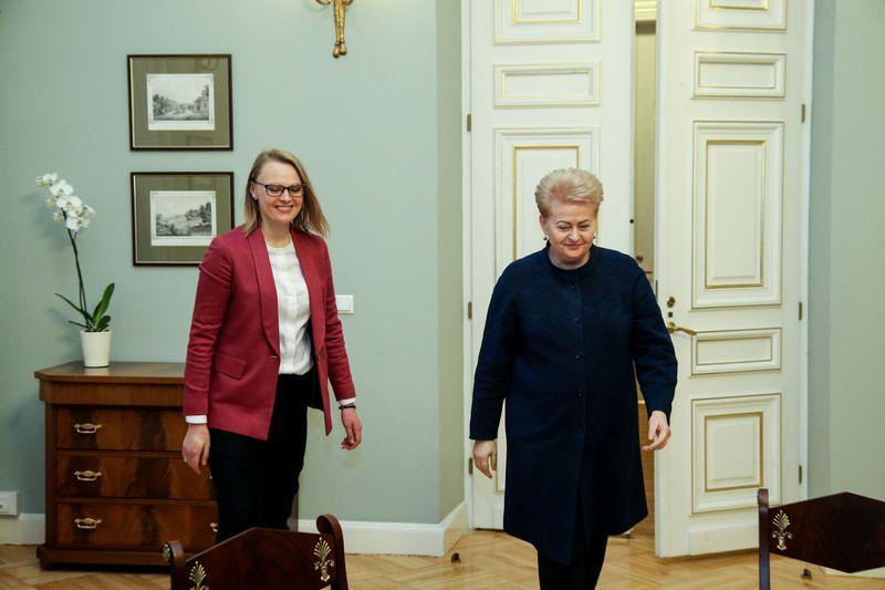 Prezidentės D. Grybauskaitės susitikimas su buvusia kandidate į aplinkos ministres Irma Gudžiūnaite. Vladimiro Ivanovo (VŽ) nuotr.