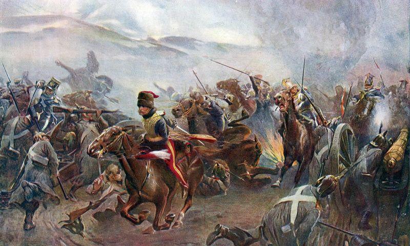 Britų kavaleristų zovada tiesiai į rusų artilerijos gerkles buvo tokia idiotiška, kad rusai netgi vertė negausius belaisvius papūsti, maždaug gal išgėrę šoblėmis mojavo. Christopherio Clarko paveikslas.