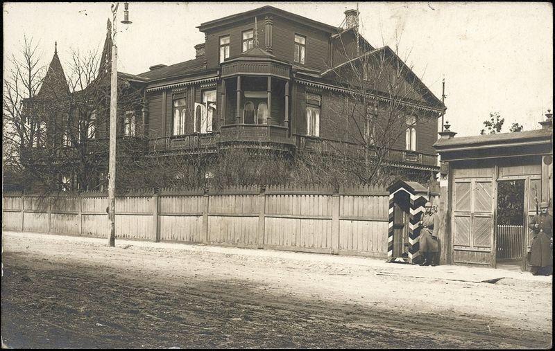 Tilmansų vila, iš Jono Palio archyvų, 1916 m. Nacionalinio M. K. Čiurlionio dailės muziejaus nuotr.