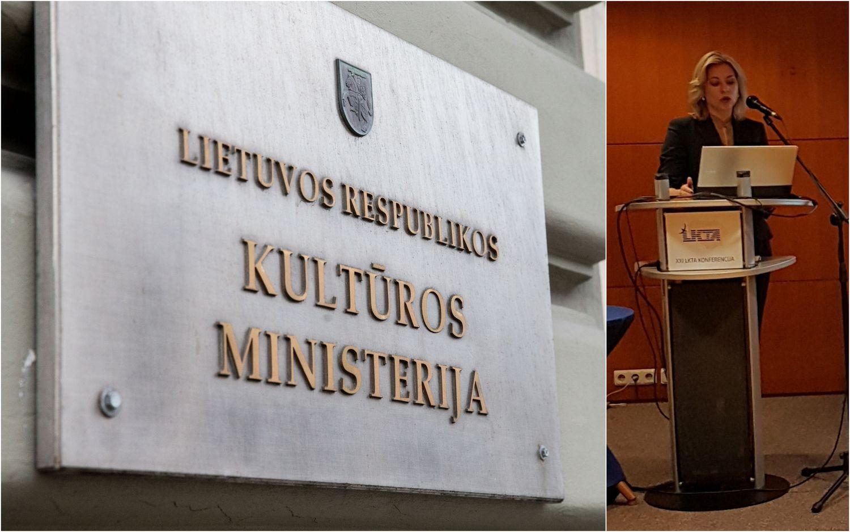 Kultūros ministro komandoje – nauja viceministrė