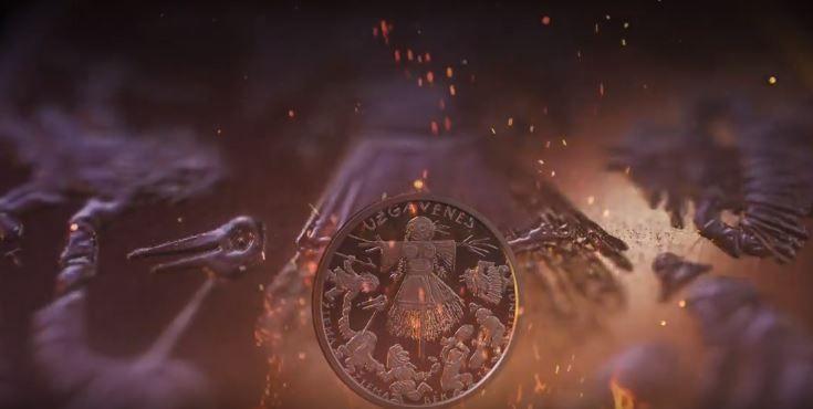 Ant Užgavėnėms skirtos monetos liepsnoja Morė