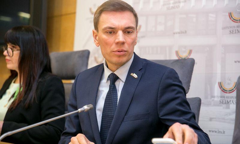 Seimo narys Mindaugas Puidokas. Juliaus Kalinsko (15min.lt) nuotr.
