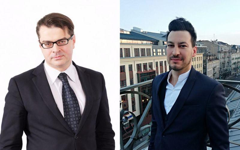 """Iš kairės: Linas Sesickas, Investuotojų teisių gynimo asociacijos pirmininkas, ir Titas Budrys, elektroninių pinigų įstaigų """"Seven Seas Finance"""" vadovas ir asociacijos """"Fintech Hub LT"""" valdybos narys. Asmeninio archyvo nuotr."""