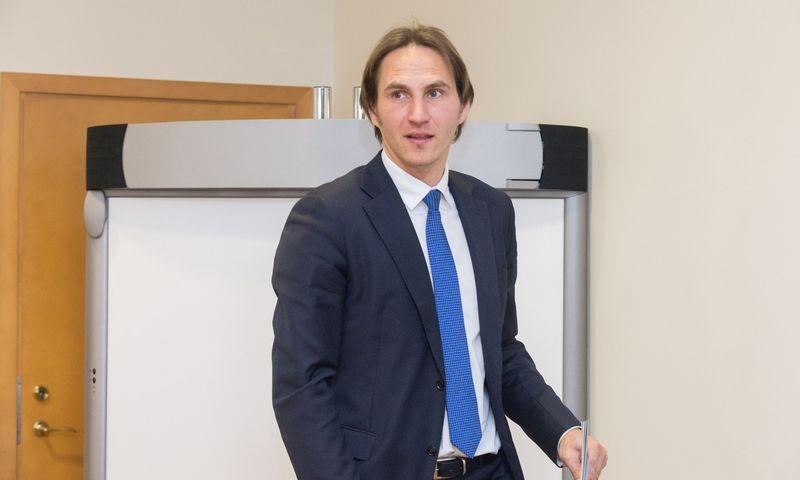 Marius Jurgilas, LB valdybos narys sako, kad abu premijuoti darbai išsiskyrė originalumu, kokybe ir praktinio pritaikymo galimybėmis. Juditos Grigelytės (VŽ) nuotr.