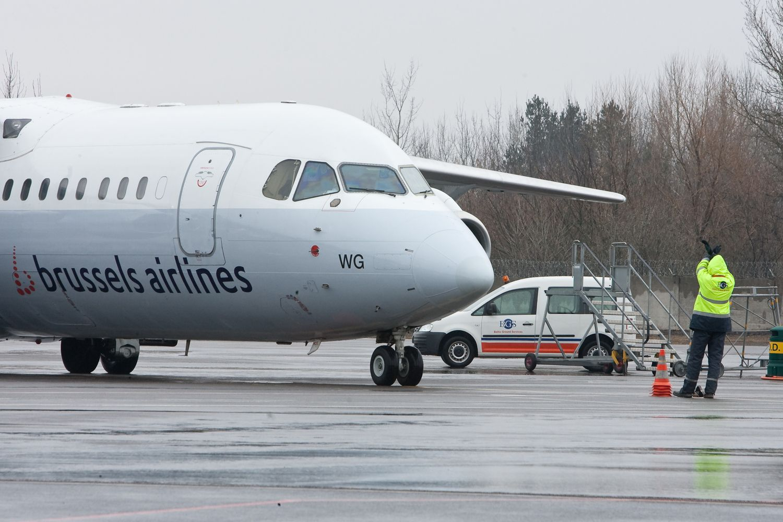 Streikai sustabdė skrydžius Briuselio oro uostuose