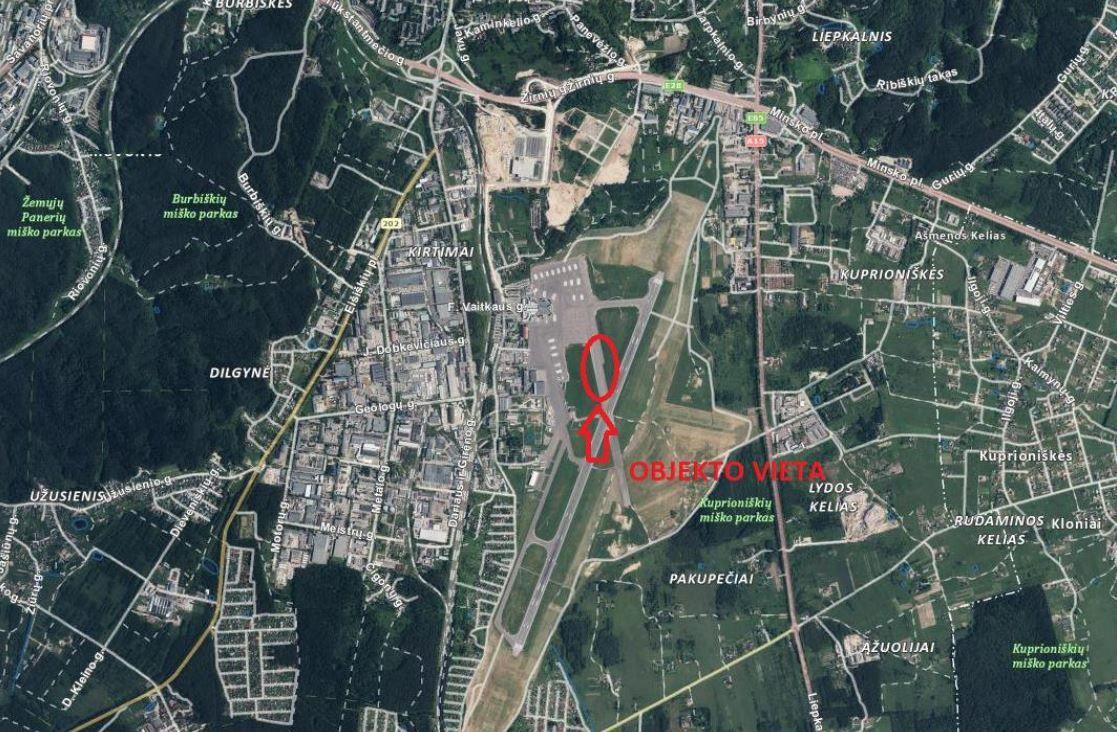 Vilniaus oro uoste planuoja rekonstruoti riedėjimo taką