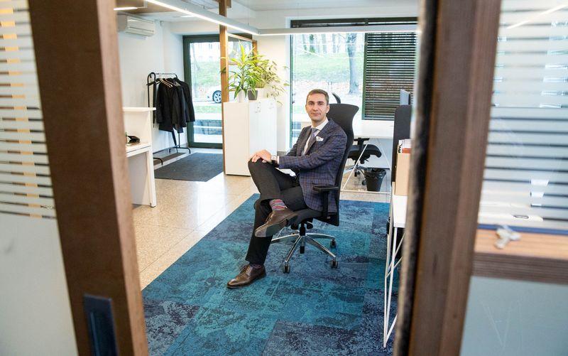 """Martynas Stankevičius, UAB """"Trečia diena"""", valdančios prekės ženklą """"Röntgen"""", direktorius. Juditos Grigelytės (VŽ) nuotr."""