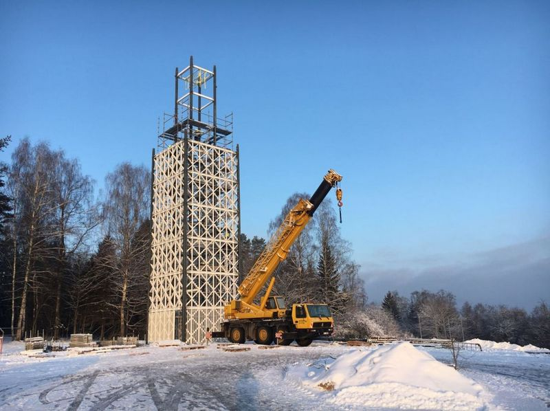 Kyla apžvalgos bokštas Nemuno kilpų regioniniam parke. Nemuno kilpų regioninio parko nuotr.