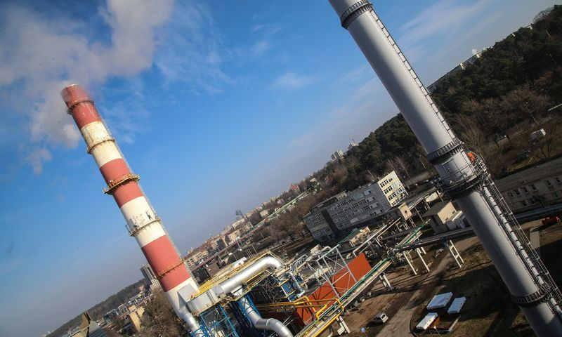 Kondensacinis dūmų ekonomaizeris Vilniaus šilumos tinklų antrojoje termofikacinėje elektrinėje (TE-2). Vladimiro Ivanovo (VŽ) nuotr.