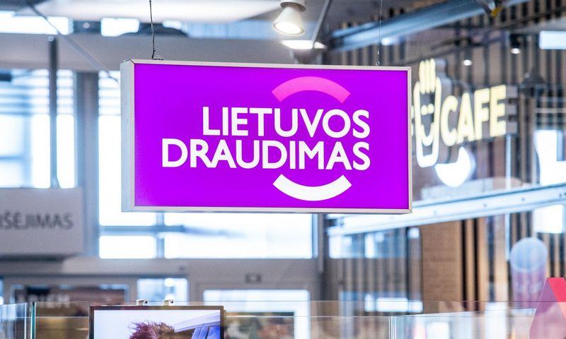 """""""Lietuvos draudimo"""" iškaba. Juditos Grigelytės (VŽ) nuotr."""