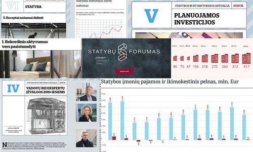 """Naujas VŽ leidinys: """"Statybos ir NT sektoriaus apžvalga 2018"""""""