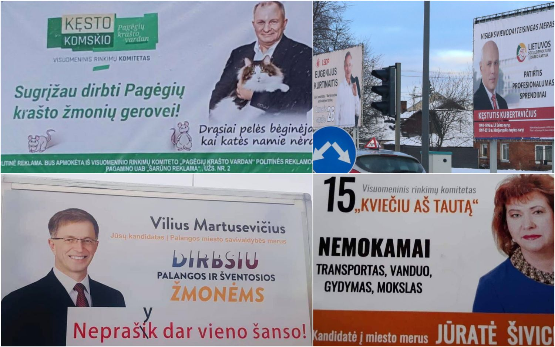 Politik� reklama: did�ioji kova Vilniuje ir uostamiestyje, arba Tu��i� id�j� burbulas