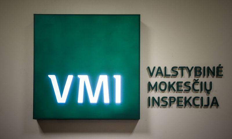 Valstybinės mokesčių inspekcijos logotipas. Vladimiro Ivanovo (VŽ) nuotr.