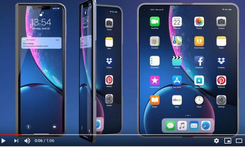 """Pasirodė būsimo sulenkiamo""""iPhone"""" kontūrai"""