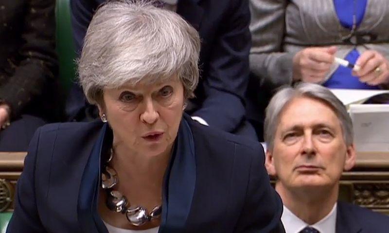 "Theresa May. ( ""AFP"" / ""Scanpix"") nuotr."