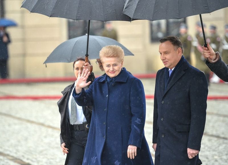 D. Grybauskaitė ir A. Duda. Roberto Dačkaus (lrp.lt) nuotr.