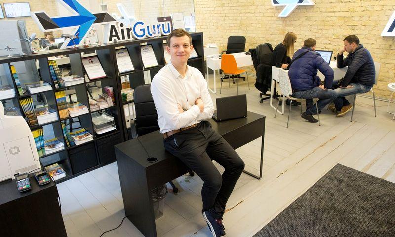 """Justinas Albertynas, UAB """"Oro guru"""", valdančios turizmo agentūrą """"AirGuru"""", verslo plėtros vadovas: """"Orientuojamės į sparčiai augančias agentūras, kurios susiduria su technologiniais iššūkiais, o mes jau esame juos išsprendę."""" Juditos Grigelytės (VŽ) nuotr."""
