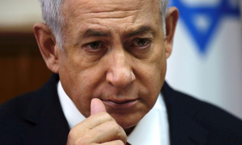 "Benjaminas Netanyahu, Izraelio premjeras. Arielio Schalito (""Reuters"" / ""Scanpix"") nuotr."