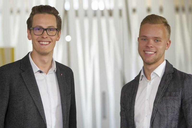 """Karolis Basevičius ir Lukas Laurinavičius dalyvavo MITA organizuojamame startuolių konkurse """"Ieškomas inovatorius""""– konkurso metu įkūrė įmonę """"Ionicum"""", gaminančią sveikus ir ekologiškus užkandžius."""