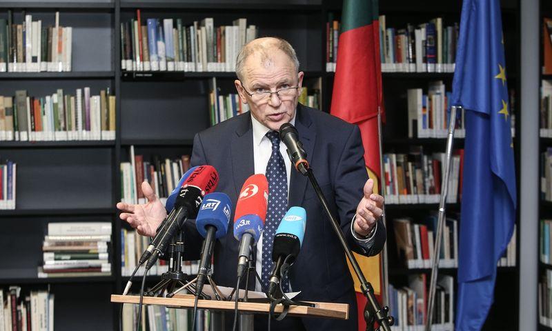 Vytenio Andriukaičio spaudos konferencija. Vladimiro Ivanovo (VŽ) nuotr.