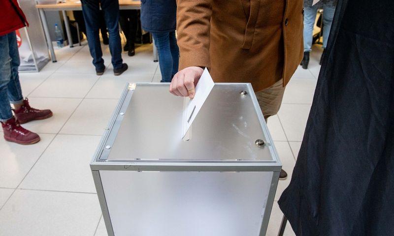 Vilniaus savivaldybėje vyksta išankstiniai savivaldybių ir merų rinkimai. Juditos Grigelytės (VŽ) nuotr.