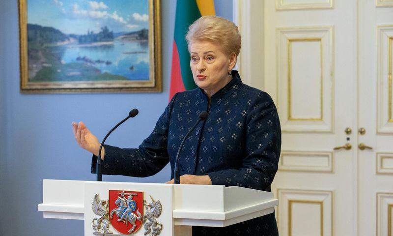 Prezidentė susitinka su Seimo valdyba. Juditos Grigelytės (VŽ) nuotr.