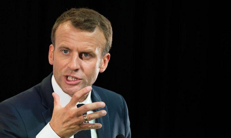 "Prancūzijos prezidentas Emmanuelis Macronas. ""Sipos"" / ""Scanpix"" nuotr."