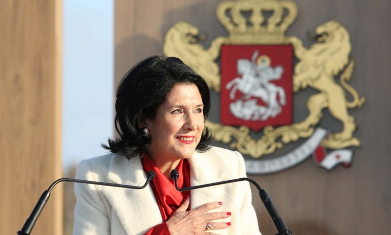"Sakartvelo prezidentė Salome Zurabišvili. AFP / Salomės Zurabišvili spaudos tarnyba / ""Scanpix"" nuotr."