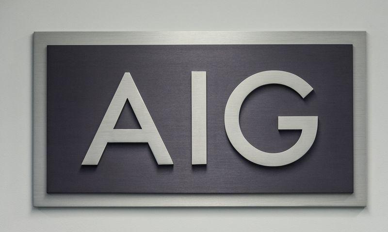 Draudimo bendrovės AIG logotipas. Vladimiro Ivanovo (VŽ) nuotr.